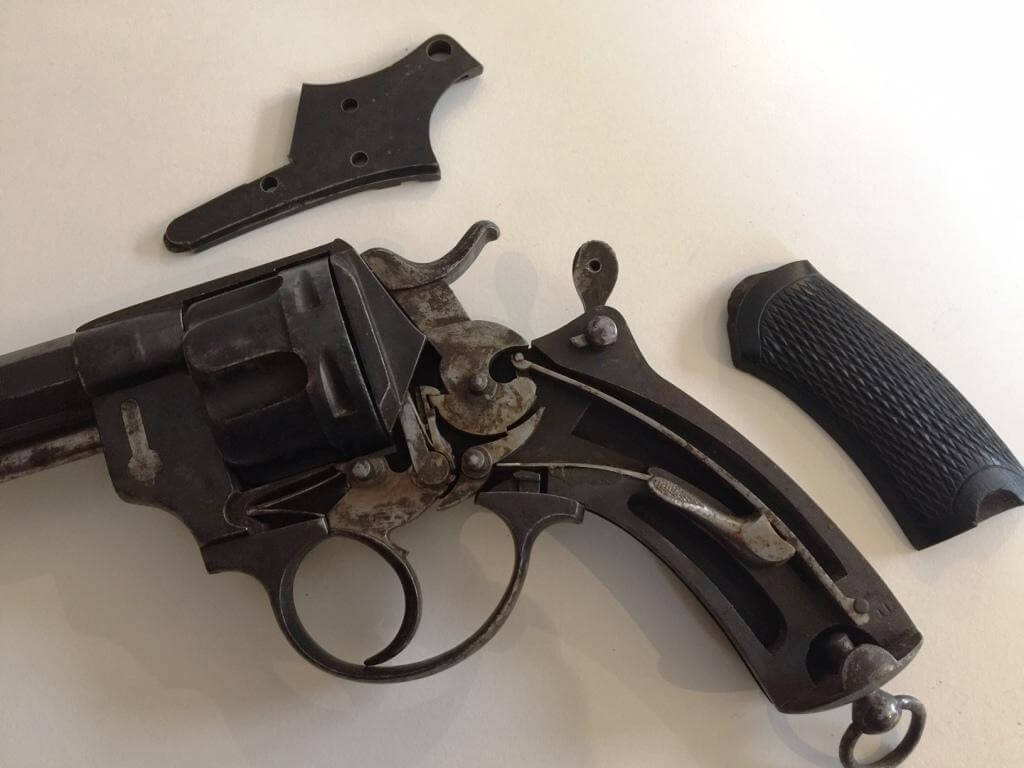 Mécanisme revolver mle 1874 civil, fabrication belge