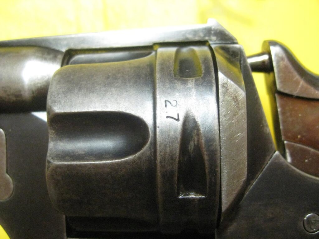 Revolver 1874 civil de la CNN: barillet et marquage 27