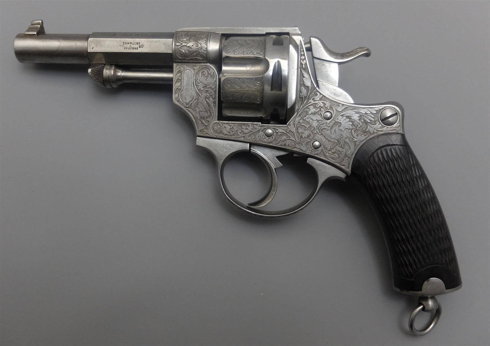 Revolver type 1874 de luxe gravé, Lefaucheux - Henry Rieger