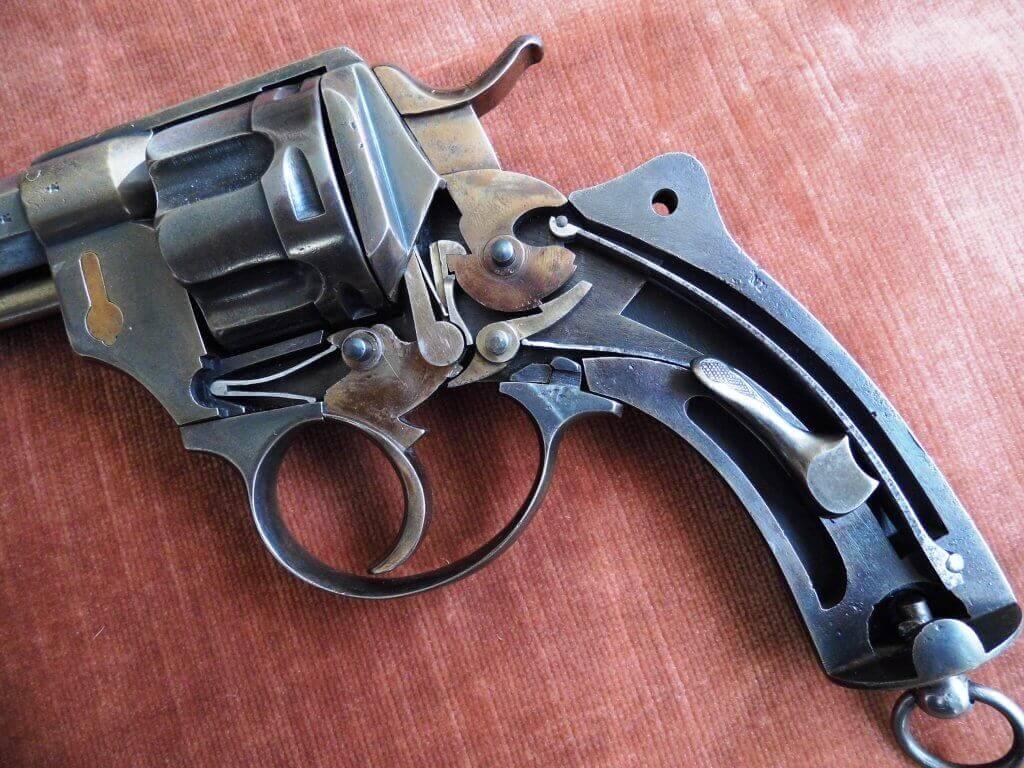 Mécanisme du revolver 1874 civil Belge