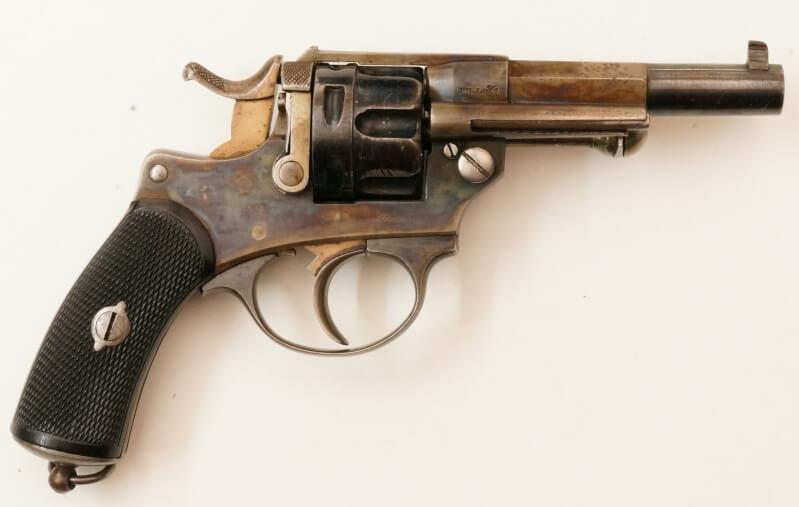 Revolver 1874 civil en calibre 380, vue de droite
