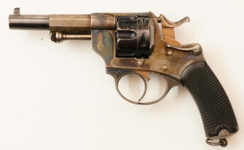 Revolver 1874 civil en calibre 380, vue de gauche