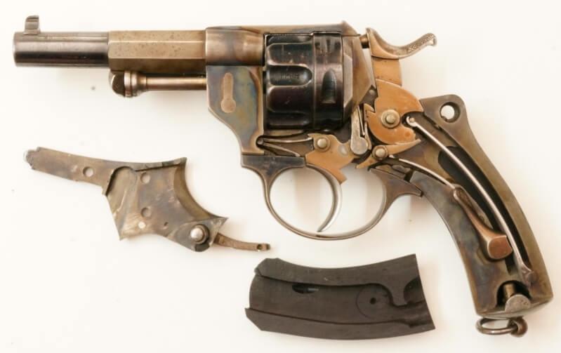 Revolver 1874 civil en calibre 380, mécanisme