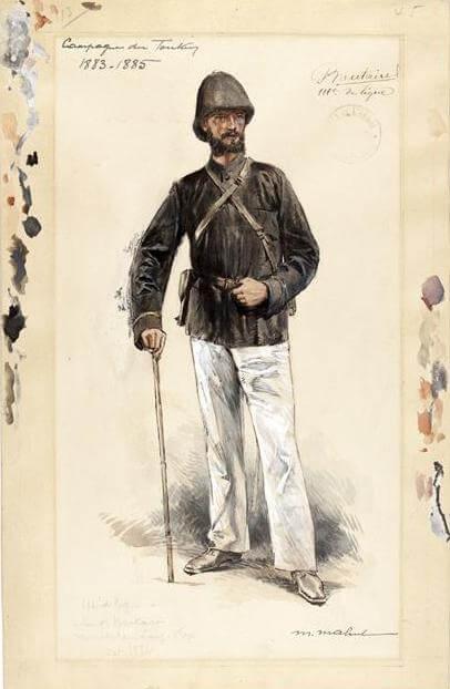 Sous-lieutenant Boutaire 11e ligne, Tonkin 1883-1885