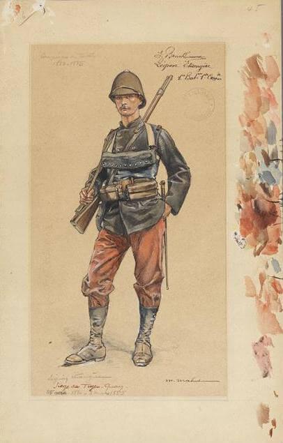 E. Prudhomme, Légion étrangère, siège de Tuyen-Quay (1884-1885)