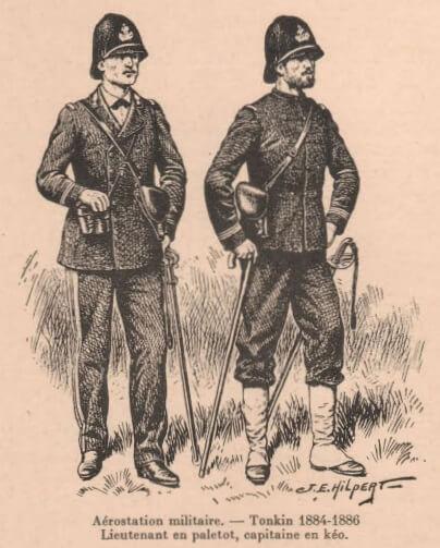 Aérostiers militaire - tonkin 1884-1886: lieutenant et capitaine