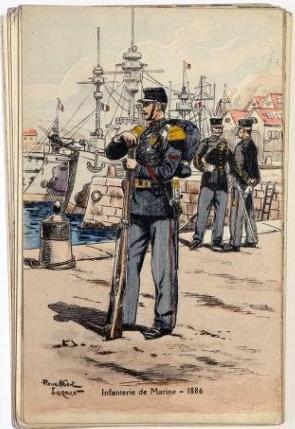 Pierre Albert Leroux: Infanterie de Marine 1886