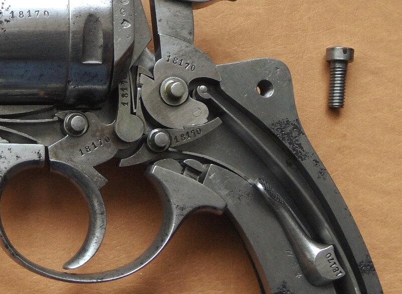 Revolver 1873 de marine 11mm: mécanisme et marquage