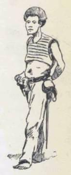 Gravure d'un marin, de Rollet de l'Isle dans Au Tonkin et dans les mers de Chine (1886)