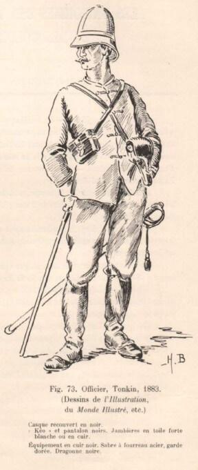Officier, Tonkin, 1883
