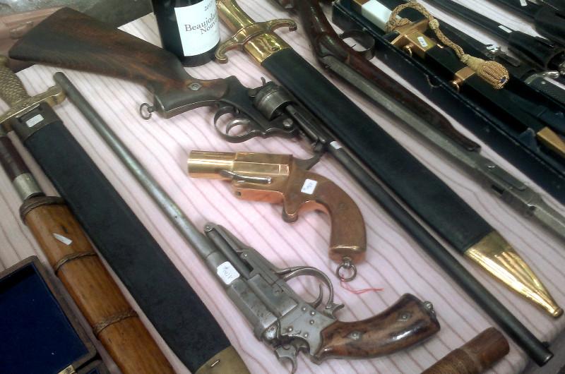 Revolver mle 1873 transformé en arme longue