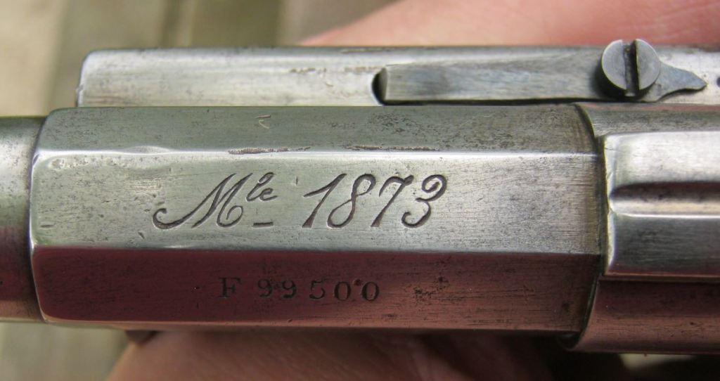 Marquage Mle 1873 sur le canon F 99500 de 1876, changé en 1886