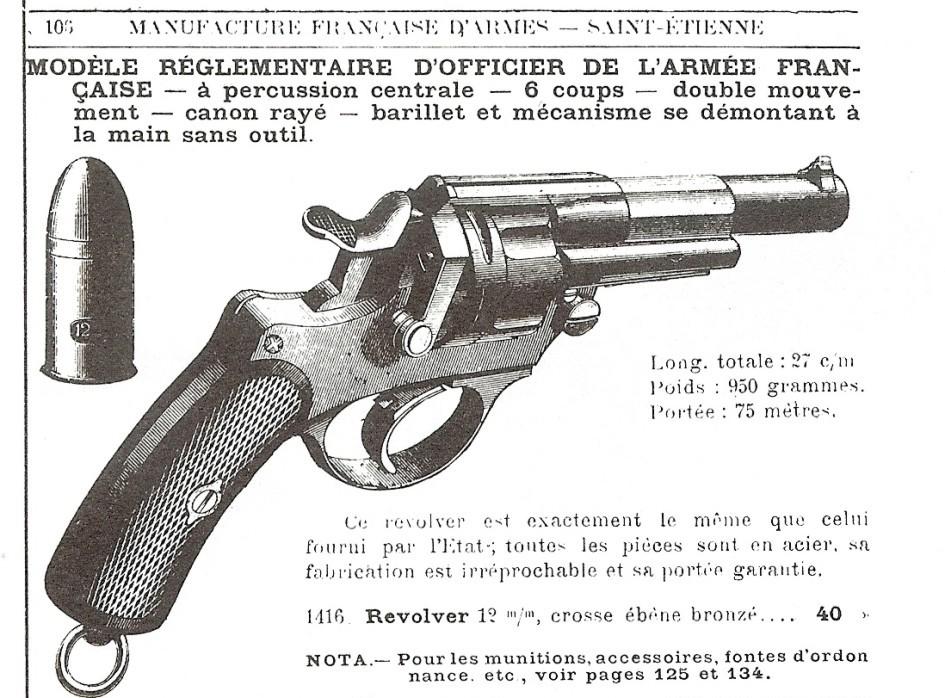 Manufrance revolver 1873 civil