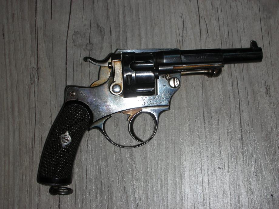 Revolver 1874 début de série: bronzage bleu