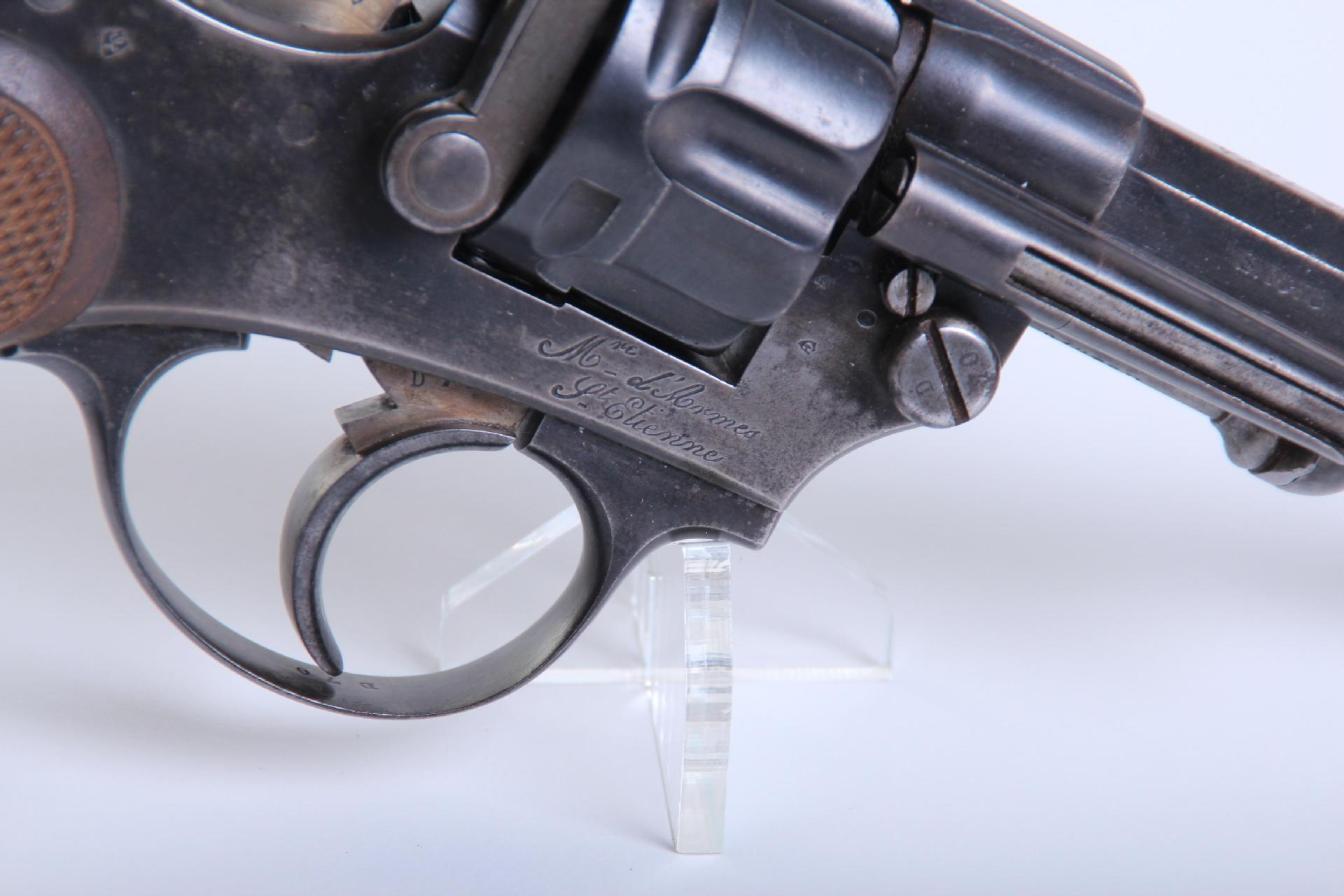 Marquage de la Manufacture d'Armes de Saint Etienne sur le revolver mle 1874