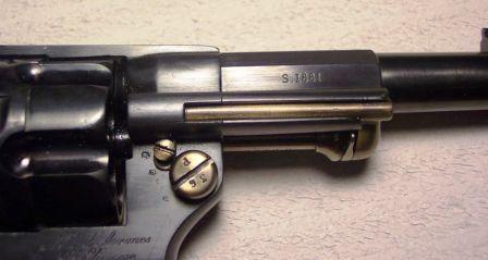 marquage de l'année sur le canon du revolver mle 1874