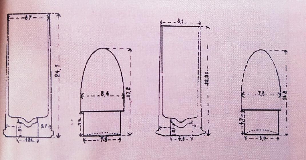 tracé de la première cartouche pour le revolver mle 1887