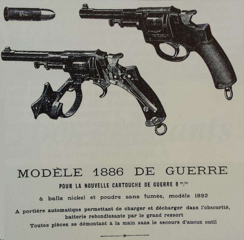 Revolver modèle 1886 de guerre, dans le catalogue Voytier