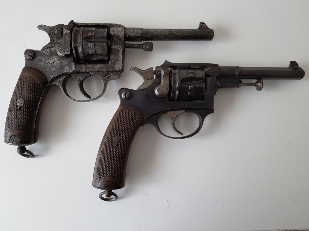 Comparaison revolvers mle 1887 et 1892 civils