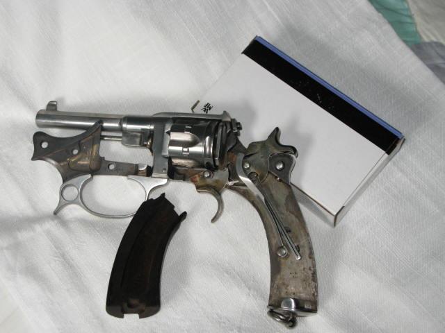 Revolver d'ordonnance modèle 1887 contrat militaire, mécanisme ouvert
