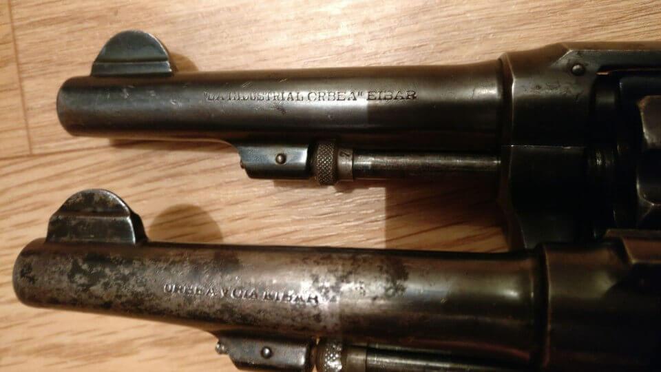 Comparaison revolvers du commerce en 8mm92 La Industrial Orbea Eibar et Orbea y Cia Eibar