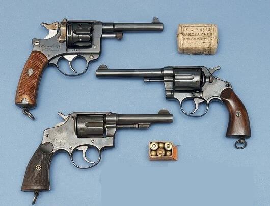 revolver modèle 1892 du commerce (Acier Forgé), Revolver Vleit en 8mm et revolver Orbéa en 8mm