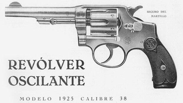 Publicité Hermanos Orbea pour un revolver oscillant en calibre .38