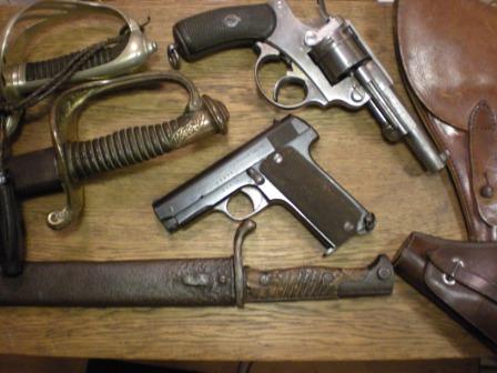 ensemble d'armes 1ere guerre mondiale