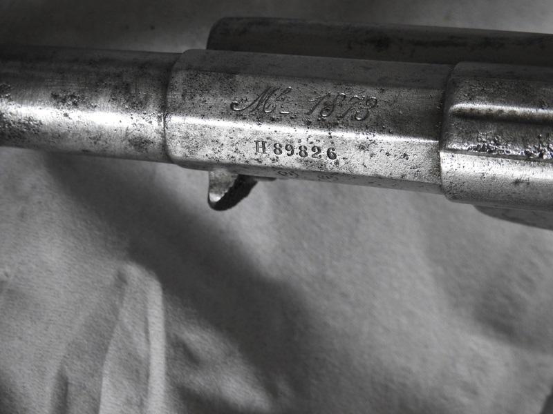 Marquage Mle 1873 sur le canon H 89826 de 1883