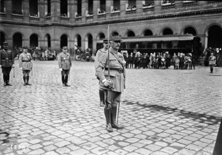 Le Maréchal Louis Franchet d'Esperay aux invalides, le 12 Mai 1921