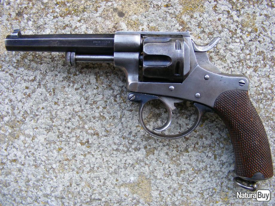 Revolver Chamelot Delvigne du type 1871, fabriqué par Pirlot frères, à Liège.
