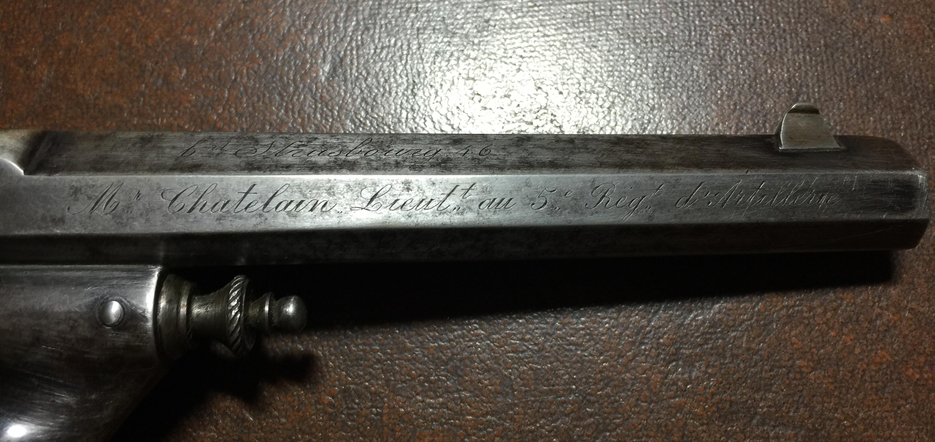 Revolver type warnant en 11mm 73 à brisure du Général Chatelain: Mr Chatelain, Lieutenant au 5e régiment d'artillerie