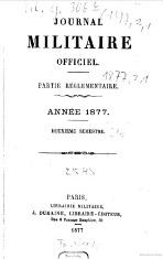 Journal Militaire officielle Deuxième semestre 1877