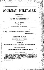 Journal militaire officiel de 1884, partie réglementaire