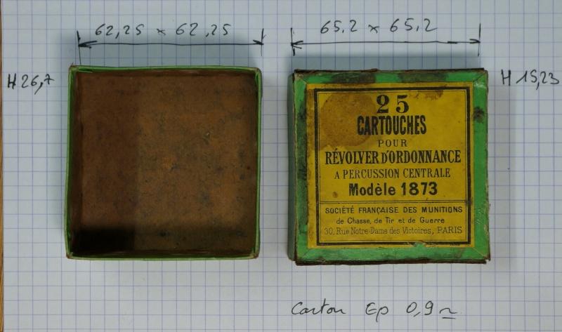 boite de cartouches 1873: paquet de 25 cartouches 11mm73 pour revolver d'ordonnance - Société Française des Munitions