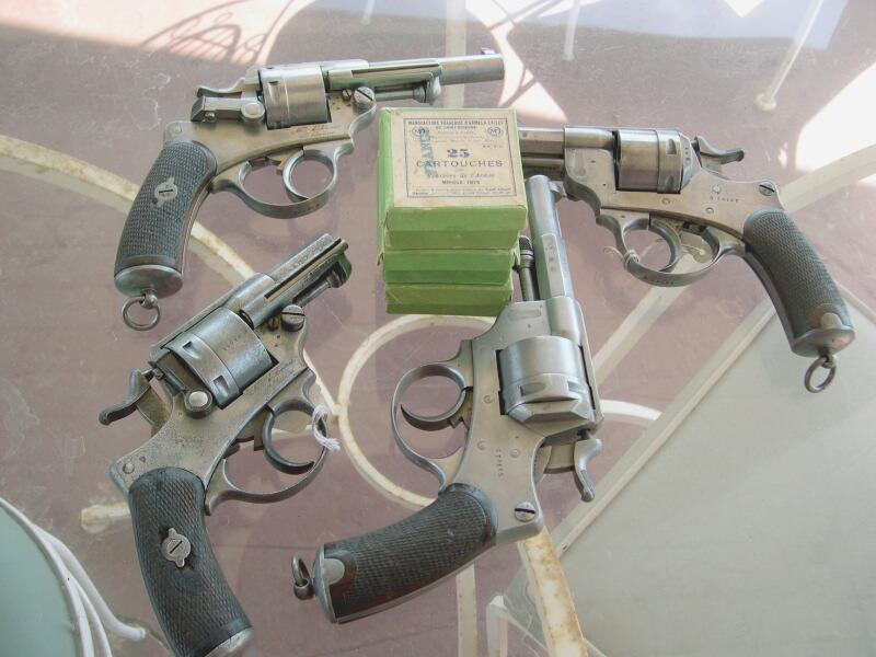 boîtes de 25 cartouches revolver de l'armée modèle 1873, Manufacture Française d'Armes et Cycles de Sait Etienne, Cartouches Gévelot et Gaupillat et revolvers 1873