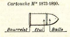 cartouche 11mm73/90 pour le revolver 1873