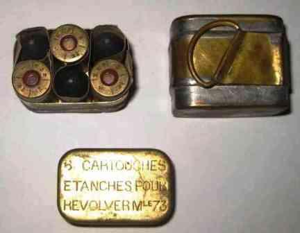 revolver 1873 munitions: Boîte de 6 cartouches étanches pour revolver modèle 1873