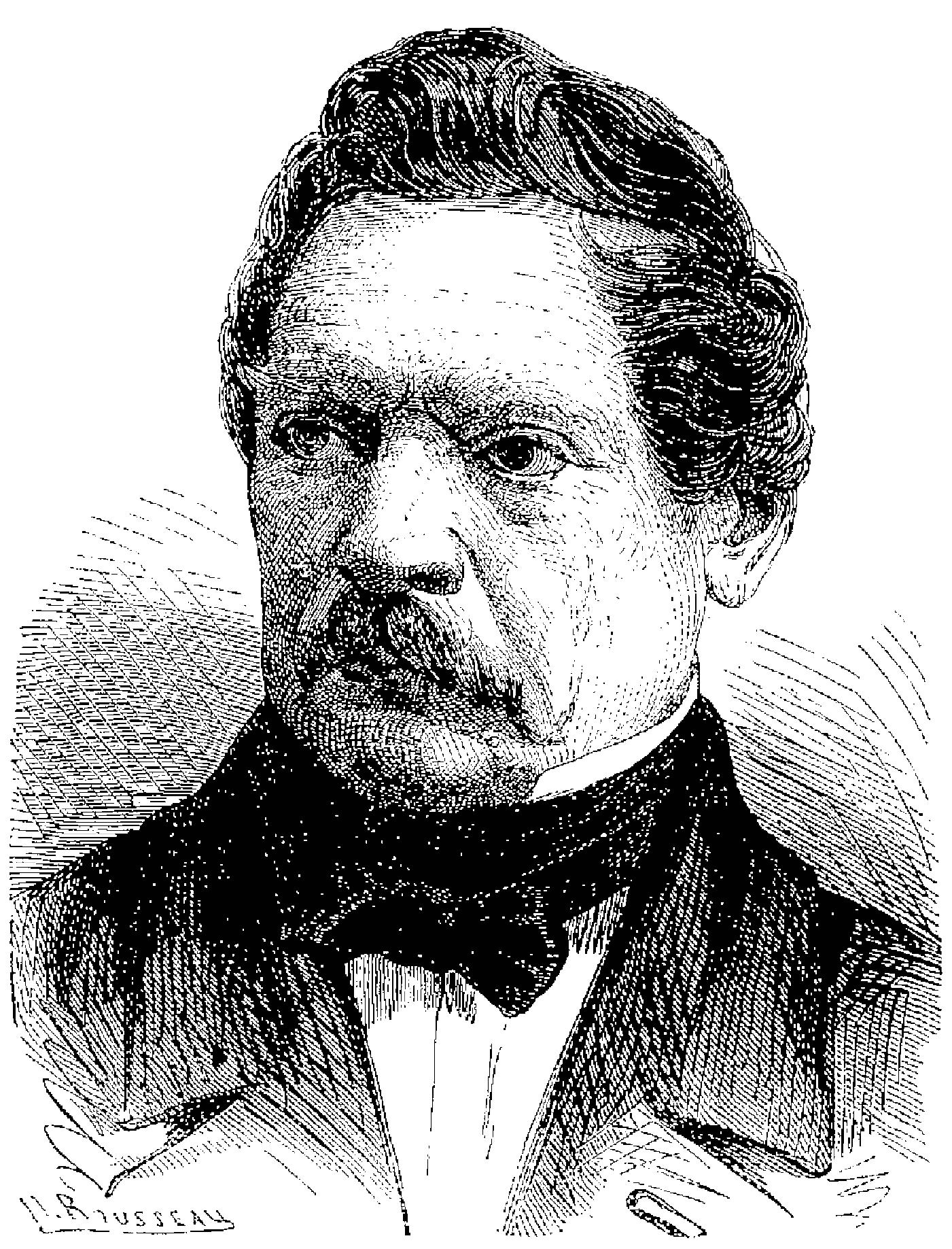 Portrait du Capitaine Henri-Gustave Delvigne, dans Les Merveilles de la science ou description populaire des inventions modernes. Furne, Jouvet et Cie, 1867
