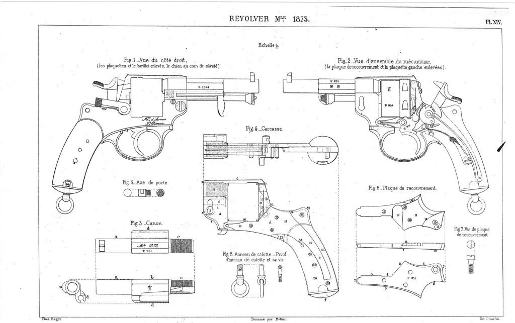 planche XIV de l'instruction sur les armes et les munitions en service dans les corps du 30 Août 1884