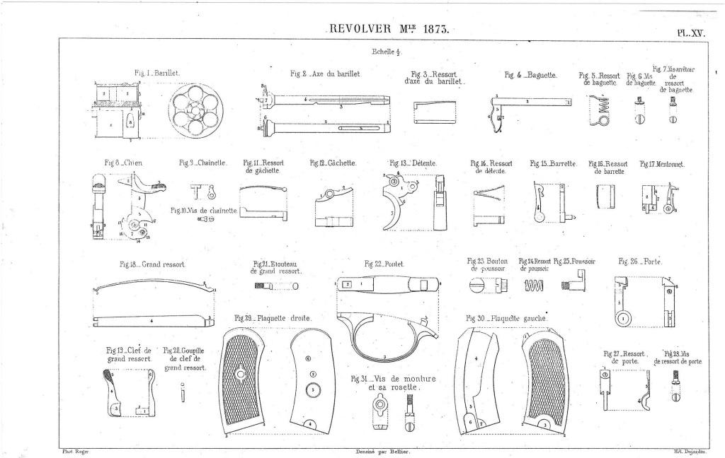 planche XV de l'instruction sur les armes et les munitions en service dans les corps du 30 Août 1884