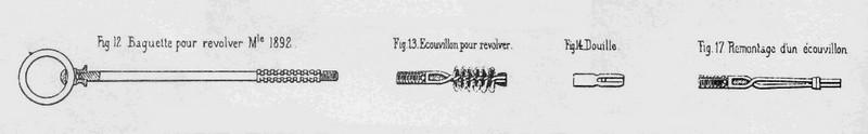 écouvillon revolver 1892