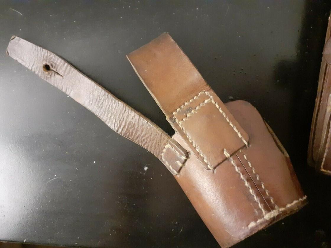 étui et cartouchière pour revolver modèle 1892 de marine