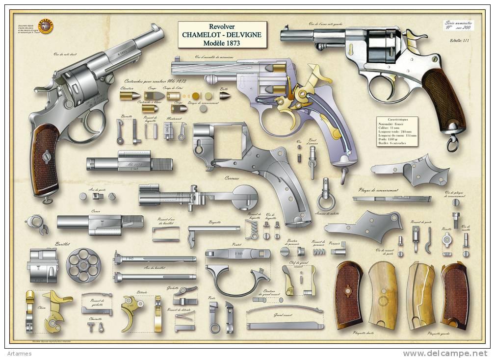 éclaté du revolver modèle 1873