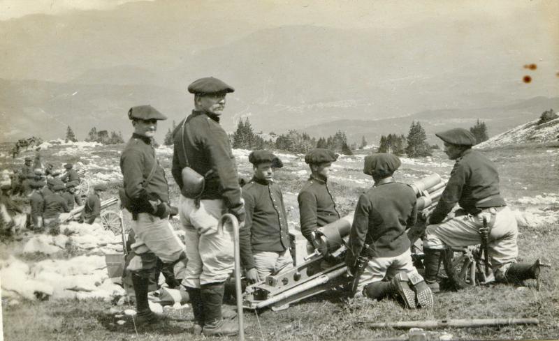 7e batterie du 1er Régiment d'artillerie de Montagne, 1910