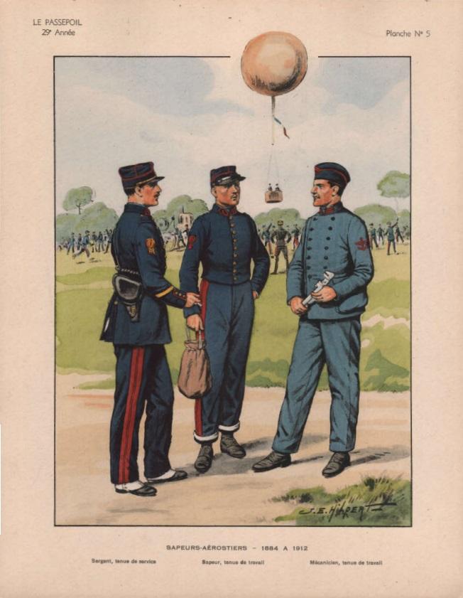 Sapeurs-Aérostiers - 1884 à 1912