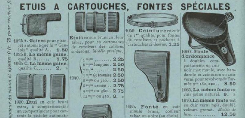 Etui jambon sur le catalogue Manufrance de 1905