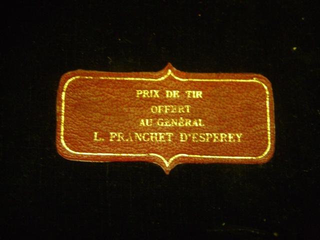 étui jambon prix de tir du Général Louis Franchet d'Esperay, marquage sous le rabat