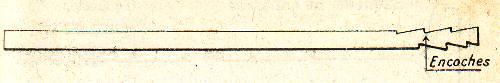 baguette en bois pour le nettoyage de l'intérieur du canon du revolver modèle 1873