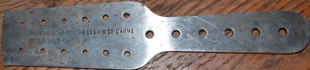 filière pour mesurer les vis du revolver 1873